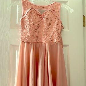 Pale Pink Lyrical Dance Costume Girls Size IC 7/8